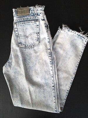 Vintage Levis Womens Distressed Relaxed Tapered Jeans Mom High Waist Size 11 USA