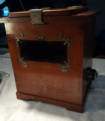 Antique Wooden Contact Printer Glass Negative Dark Room Light Box Vintage Bulbs