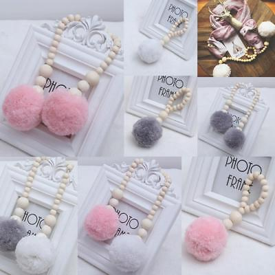Fluffy Ball Wall Pendant Kids Baby Home Nursery Cot Crib Hanging Decoration Gift