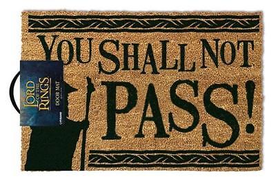 Lord Of The Rings Not You Shall Not Pass 60 x 40cm Doormat Welcome Mat