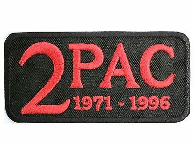 """2PAC RIP Tupac Hip Hop Embroidered Iron On Patch Badge 3.1""""/8m"""