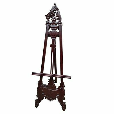 Solid Mahogany Wood French Style Carved Easel Antique Style New