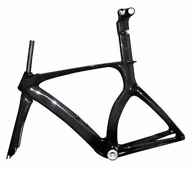 Carbon Time Trial Bike Frame Fork 3k Glossy BSA Di2 Triathlon Bicycle Parts ISP