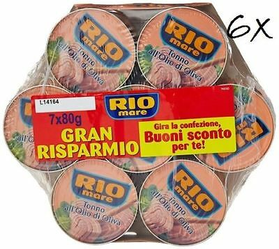 42x Rio Mare Tonno all'olio di oliva 6 Mega pack tuna in olive oil 42x 80g