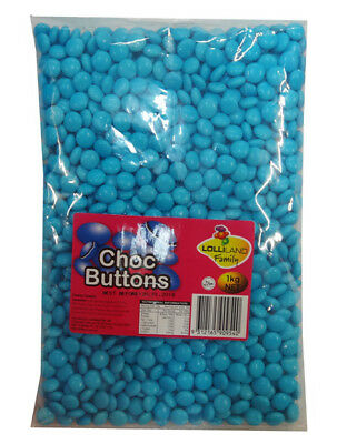 Lolliland Choc Buttons - Blue (1kg bag)