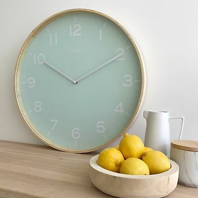 NEW Eva Wooden SILENT SWEEP Wall Clock 51cm by Toki by PS Home and Living
