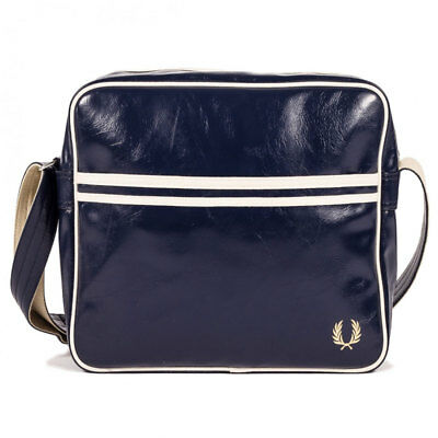 Fred Perry Classic Unisex Bags Navy Ecru