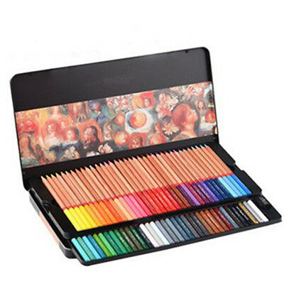 72 colored wooden pencils professional artist drawing set Gift