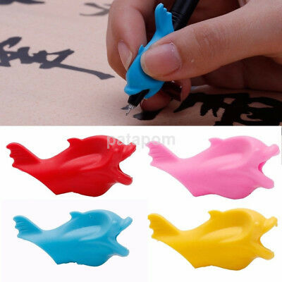 10Pcs/set Pen Pencil Handwriting Aid Grip Holder Children Correction Tool Fish