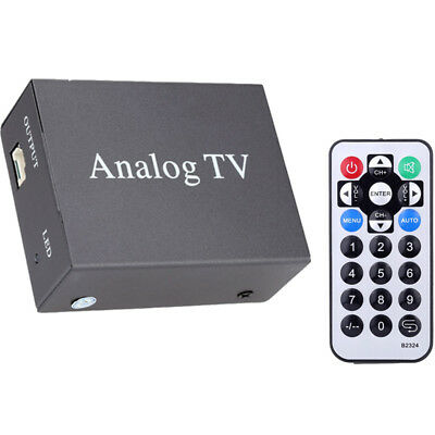 12V Car Mobile Analog Auto TV Receiver Analog TV Tuner Box 9224 Black Universal