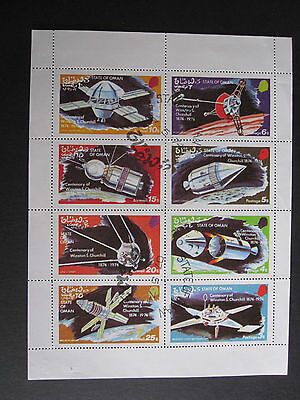 Oman 1974 Space sheetlet of 8 stamps - CTO