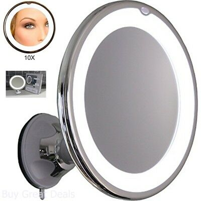 Lighted Makeup Mirror 10x Magnifying Vanity Led Light Swivel Wall