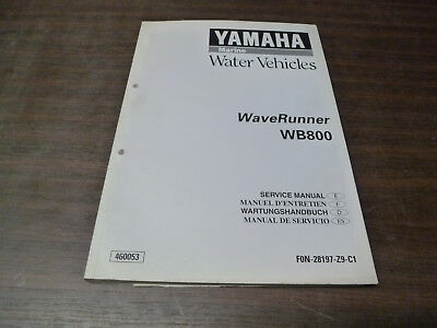 Manuel Revue Technique Atelier Yamaha Waverunner Wb 800 1999 Service Manual