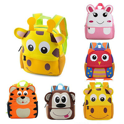 Toddler Kids Children Boys Girls Cartoon Animal Backpack School Bag Rucksack IAU