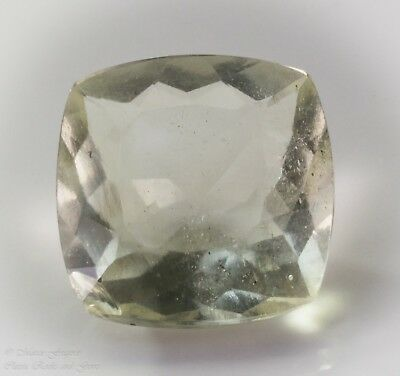 Libyan Desert Glass LDG Facet Cushion Cut Gem Meteorite Impactite 4.15ct 11.3mm