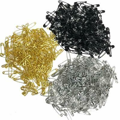 Safety Pins Mini Gold Silver Black 18MM Tiny Metal Boxed Sewing Art Craft PK