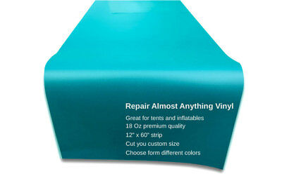 """12""""x60"""" Commercial Vinyl Repair Hunter Inflatable Bounce Patch Kit Hunter Green"""