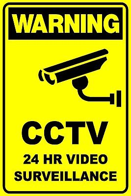 Cctv 24Hr Video Security Surveillance Sign - 300 X 225Mm