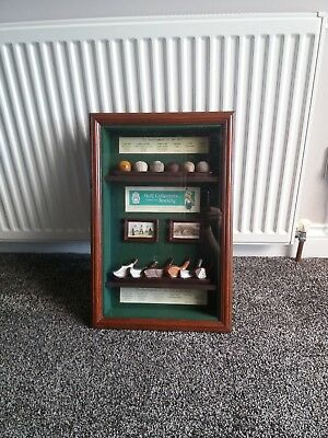 Golf Collectors Society Display, The Evolution Of Balls And Clubs