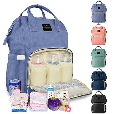 US LAND Large Capacity Mummy Bag Baby Nappy Diaper CHANGING Backpack Travel Bag