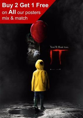 Stephen King It 2017 Movie Poster A5 A4 A3 A2 A1