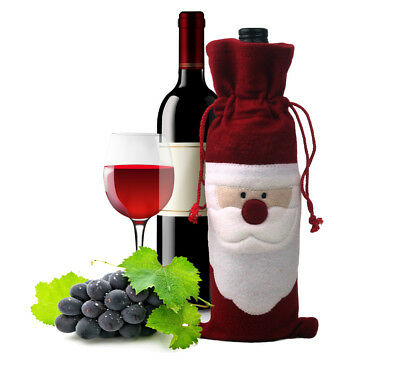Christmas Wine Bottle Cover Bag Santa Claus Decor Party Xmas Gifts Present