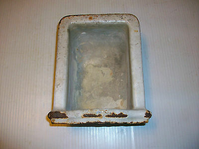 Antique Porcelain Cast Iron Soap Dish For Victorian Cast Iron Bath Tub Rare