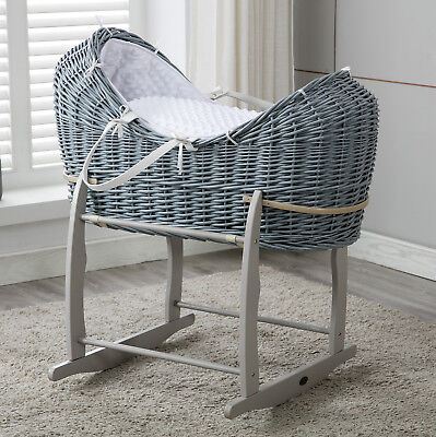 Full Set Grey Wicker Cocoon Pod Basket With Mattress,Bedding sets Rocking Stand