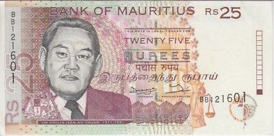 Mauritius Banknote P42-1601 25 Rupees 1998 Withdrawn, Unc