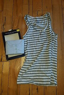 NWT Womens TOMMY HILFIGER 2 Pack Henley Tank Size XL X-LARGE