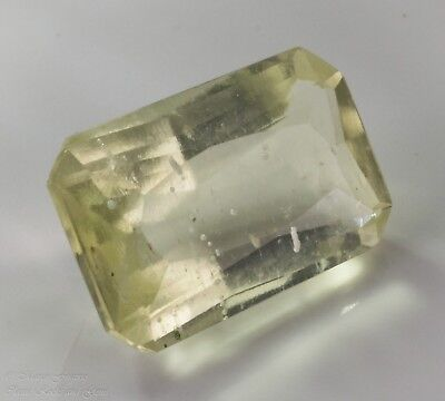 Libyan Desert Glass LDG Facet Emerald Cut Gem Meteorite Impactite 6ct 15x9.4mm