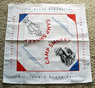 Smokey Bear Bandana Unusual Camp Smokey  California State Fair  Fire Prevention