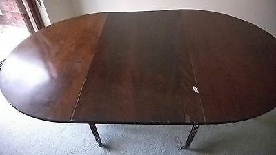 Antique Georgian Mahogany extending pedestal Dining table