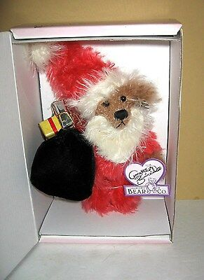 "Annette Funicello Bear Co ""Bear Claus"" Mohhair 8"" Bear Limited Edition NRFB"