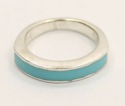 """Bold  """"Turquoise""""  Gemstone  Estate Ring in .925 Silver"""