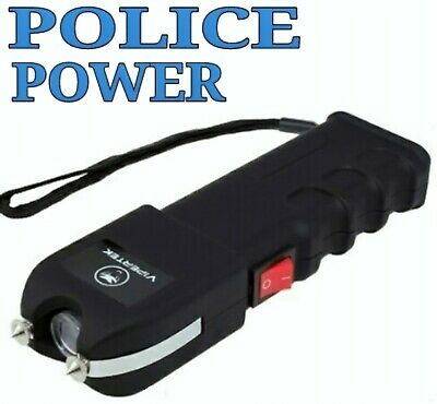 VIPERTEK VTS-989 100 BV Rechargeable Stun Gun with LED Light + Holster