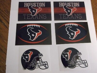 PICK YOUR TEAM,  LOT of 6  NFL DECALS MIXED / VARIETY