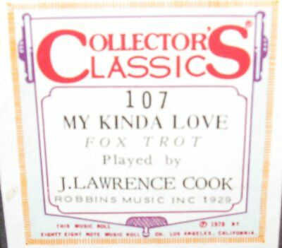 My Kinda Love Played By J. Lawrence Cook Recut Piano Roll 0917
