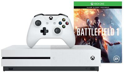 Microsoft Xbox One S 500GB Gaming Console Battlefield 1 Bundle - White