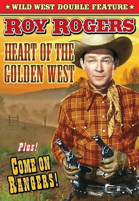 Roy Rogers Double Feature: Heart of The Golden West (1942) / Come On NEW DVD
