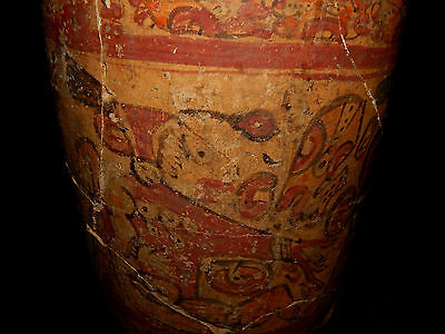 Pre-Columbian Polychrome Mayan Ceramic Pot, Authentic, Rare
