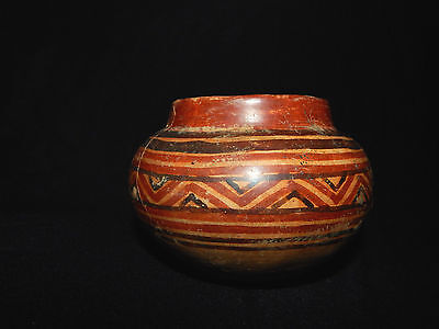 Pre-Columbian Polychrome Pot, Authentic, Costa Rica Pottery