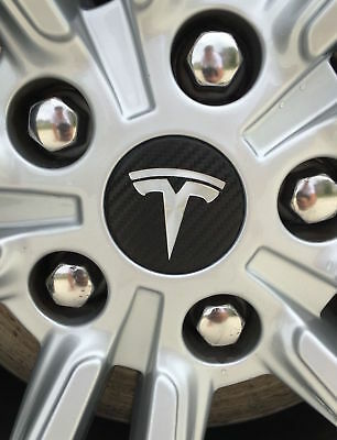 Tesla Model S / X Center Wheel Wraps / Decals - many colors!!