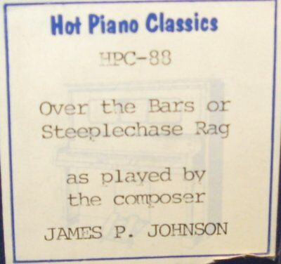 Steeplechase Rag By James P. Johnson Arranged By John Farrell Piano Roll 0917