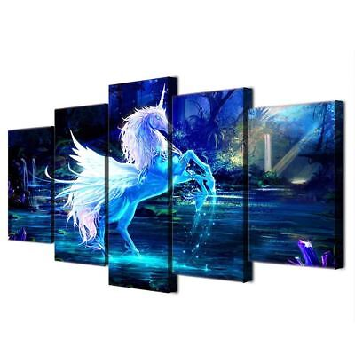 Unicorn Horse print wall art on canvas picture for living room