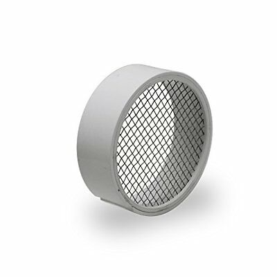 Raven R1508 PVC Termination Vent with 304 Stainless Steel Screen 2 Inch Slott...