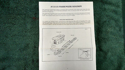 LIONEL # 352 ICING STATION INSTRUCTIONS PHOTOCOPY