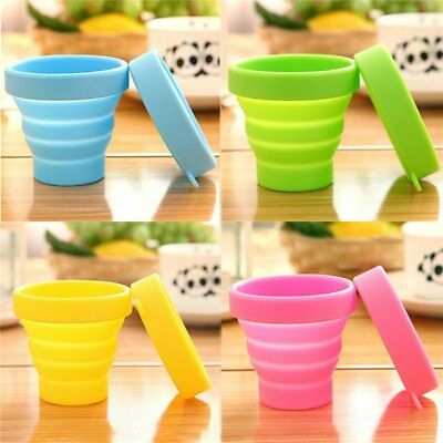 Hot Sport Retractable Silicone Travel Collapsible Drinking Picnic Foldable Cup