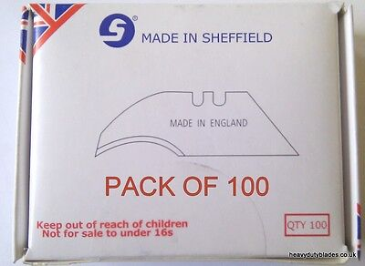 100 Concave Blades Fits Dolphin Delphin Knives Made In Sheffield. Ind99A
