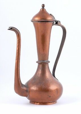 Antique Russian brass and copper coffee pot